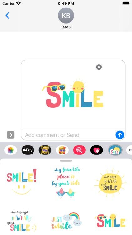Wear Your Smile Sticker Pack screenshot-9