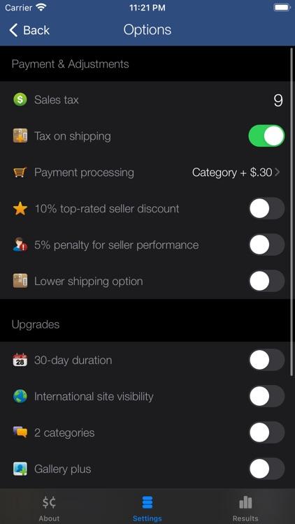 Salecalc for eBay Calculator