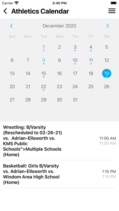 Screenshot of Adrian Public School ISD 511 App