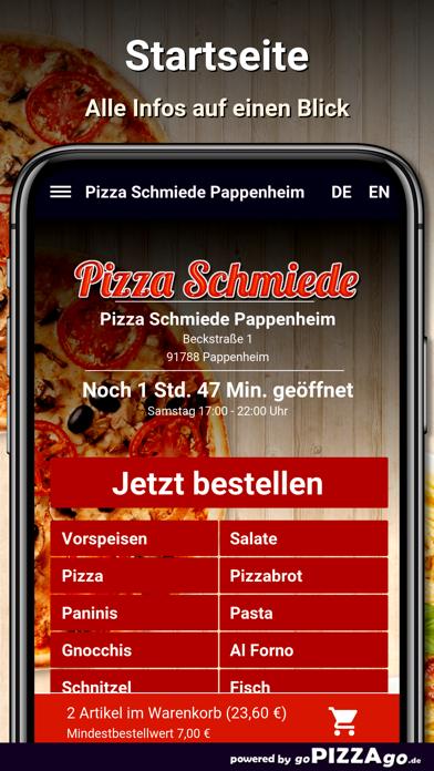 Pizza Schmiede Pappenheim screenshot 2