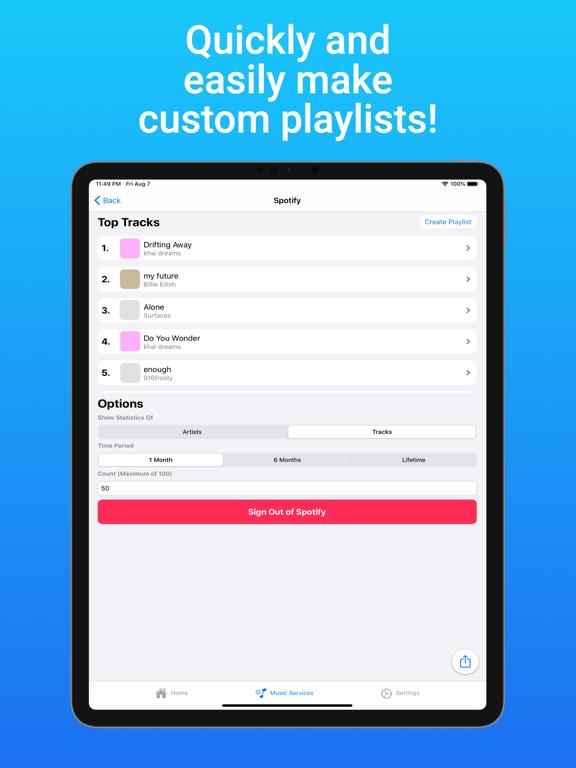 TuneTrack iPad app afbeelding 3