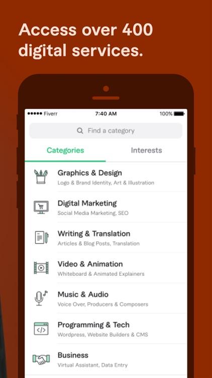 Fiverr - Freelance Services screenshot-3