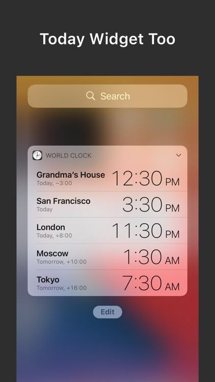 World Clock — Time Zone Widget screenshot-6