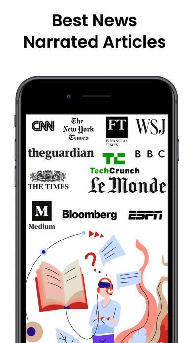 Audiofy -News Book Text Reader screenshot 1