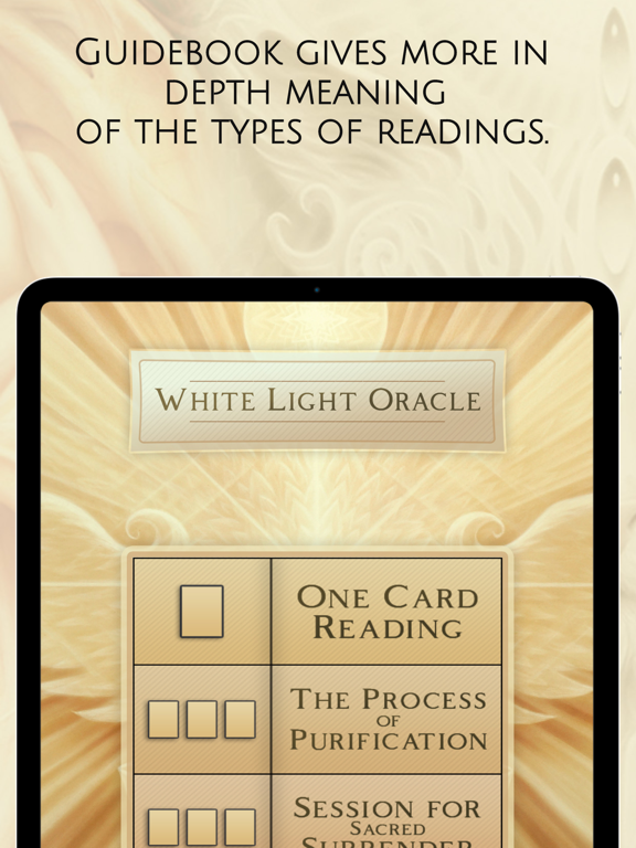 Ipad Screen Shot White Light Oracle 4
