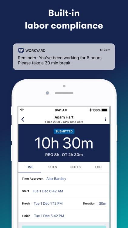 Workyard Time Clock screenshot-4