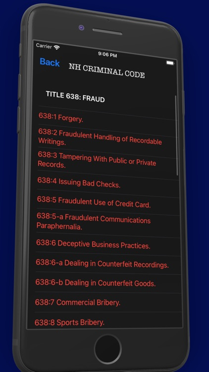 NH Criminal & Vehicle Code screenshot-3