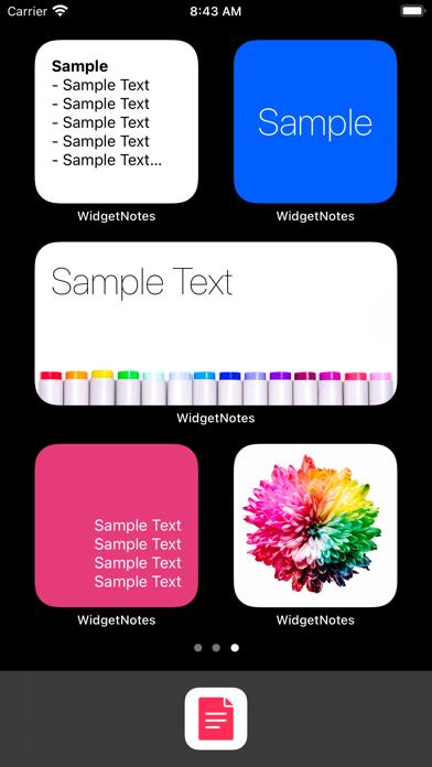 ウィジェットメモアプリ - ホーム画面にメモと写真を設置のスクリーンショット1