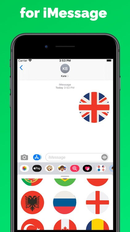 Country Flags Stickers & emoji