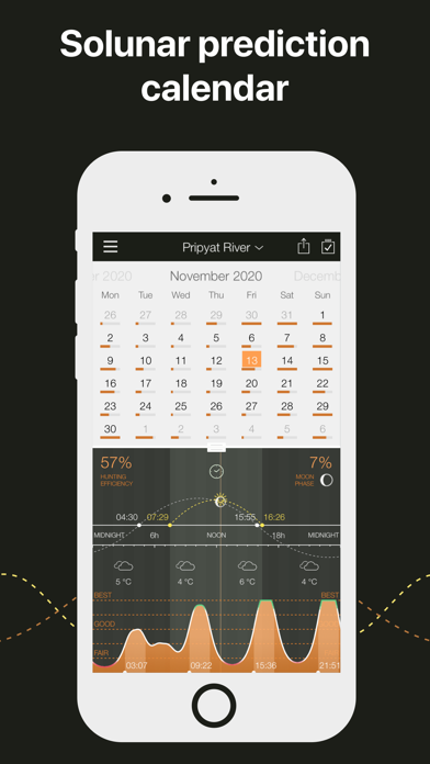 Hunting Calendar, Solunar Screenshot