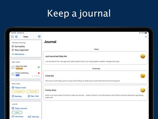 Daily Me: Themes, Tasks, Diary screenshot 9