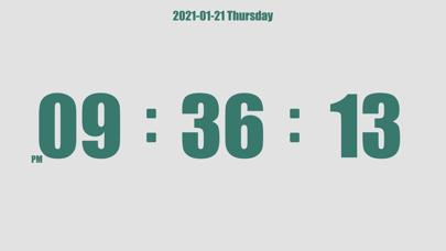 Mini Clock - flip white noiseのおすすめ画像7