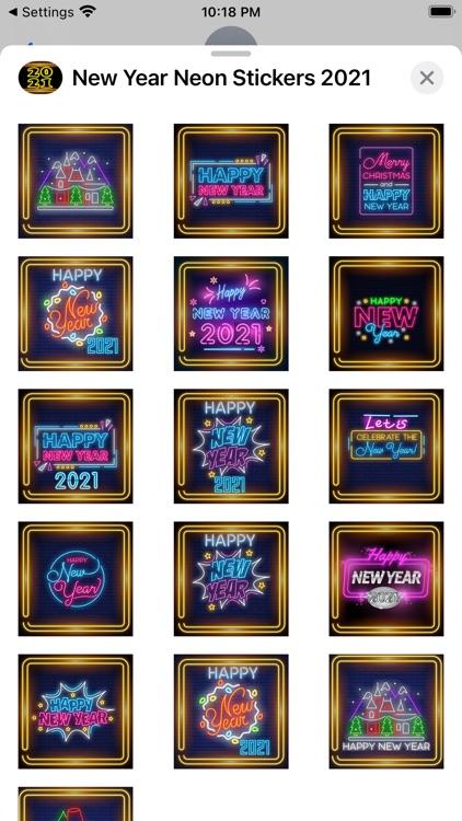 New Year Neon Stickers 2021 screenshot-5