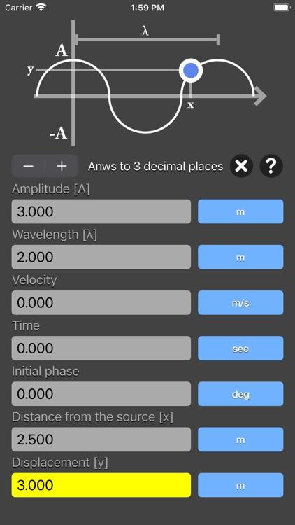 Harmonic Wave Equation Calc