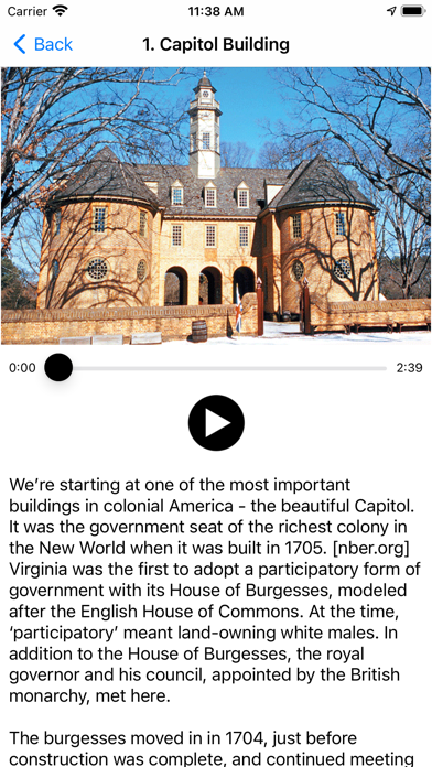 Screen Shot Colonial Williamsburg History 0