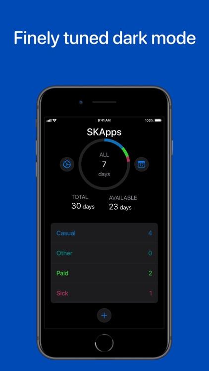 Time Off - Leave Tracker screenshot-8