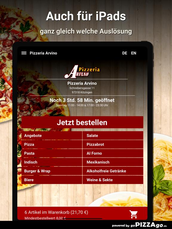 Pizzeria Arvino Kitzingen screenshot 7