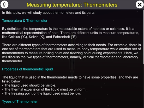 Temperature and Thermometers screenshot 10
