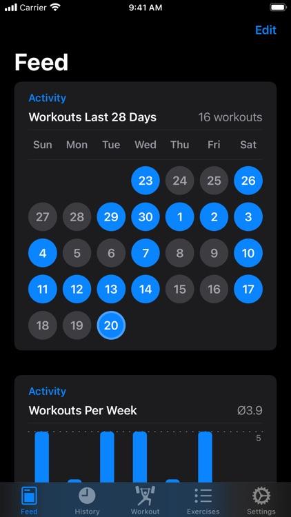 Iron - Workout Tracker screenshot-8