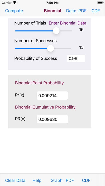 Binomial Distribution screenshot-6