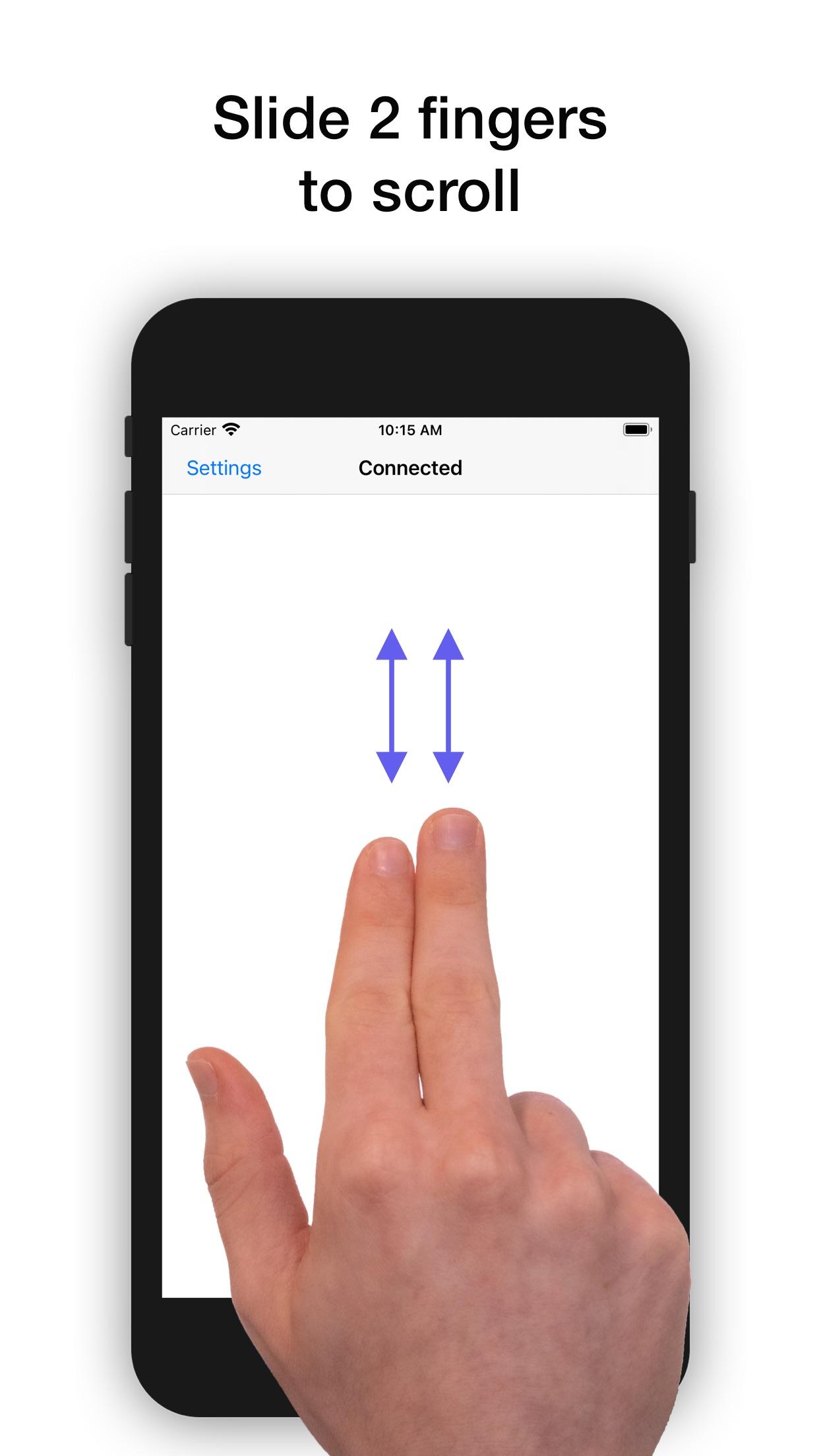 Screenshot do app El Trackpad