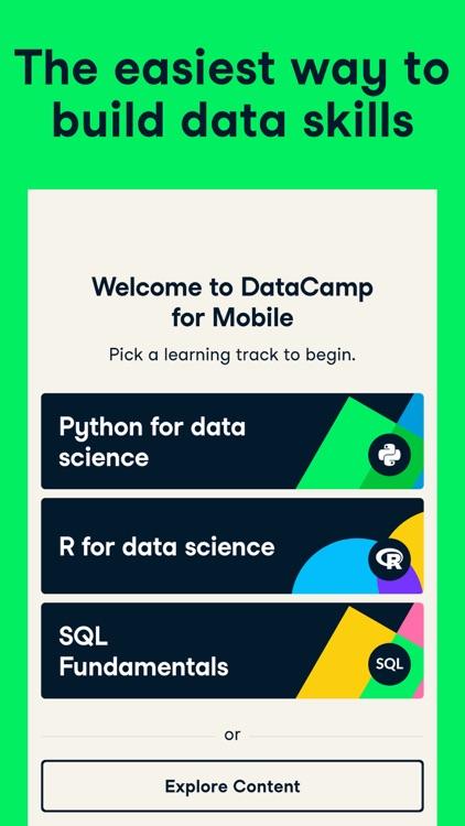 DataCamp: Learn Data Science screenshot-0