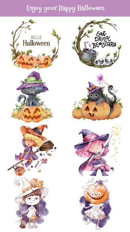 Nice Watercolor Halloween Pack screenshot-3