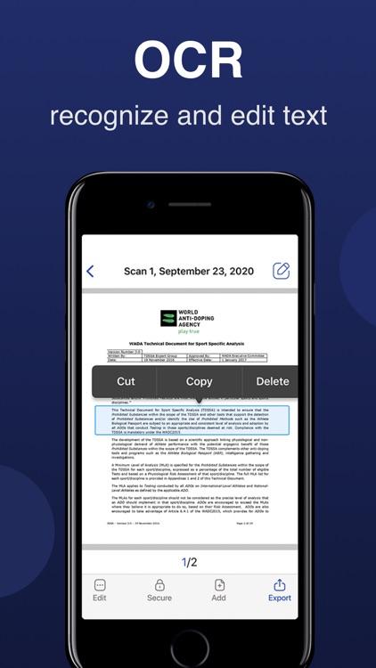 Scanner-App: Scan Text & Notes screenshot-4