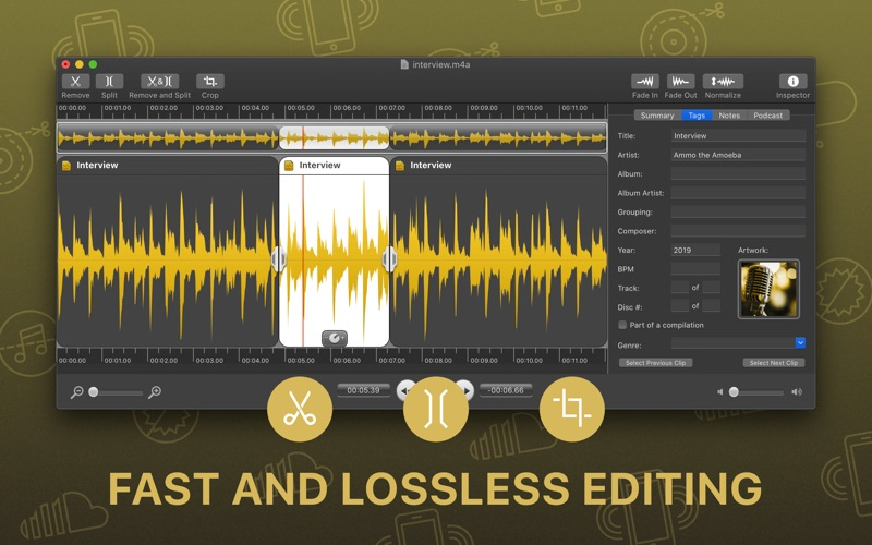音频编辑工具 Fission  for Mac