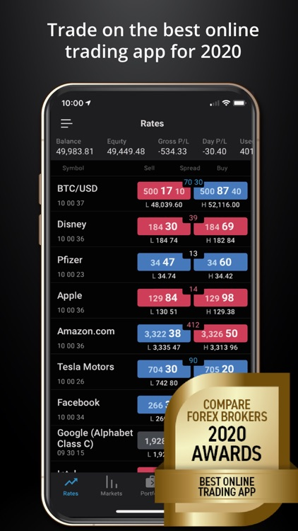 cfd trading app