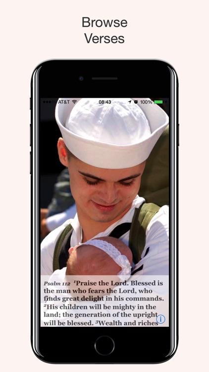 Navy Psalm Daily Quotes NIV screenshot-5