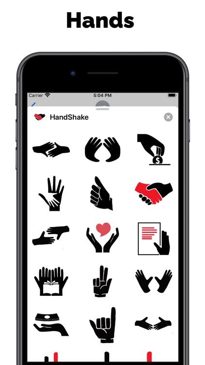 Hand stickers & top text emoji
