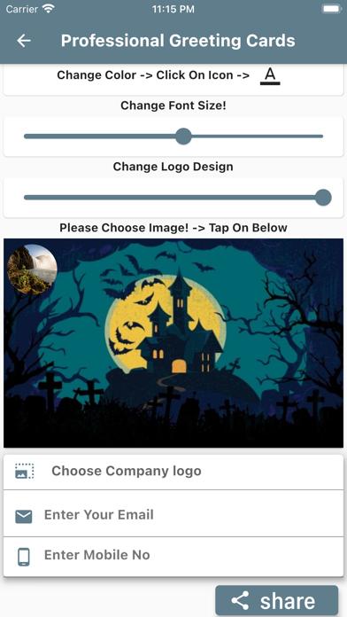 Halloween GIF Wishes Greetings Screenshot