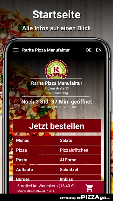 Rarita Pizza Hamburg screenshot 2