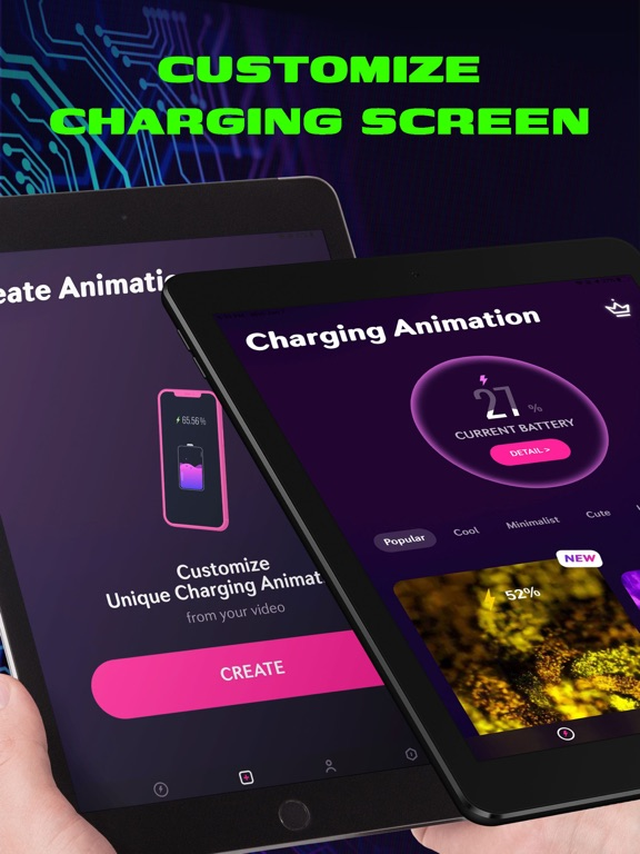 iPad Image of Charging Animation Show Play