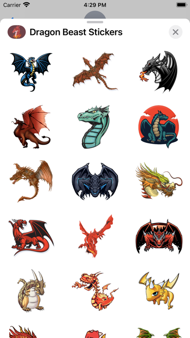 Dragon Beast Stickers screenshot 2