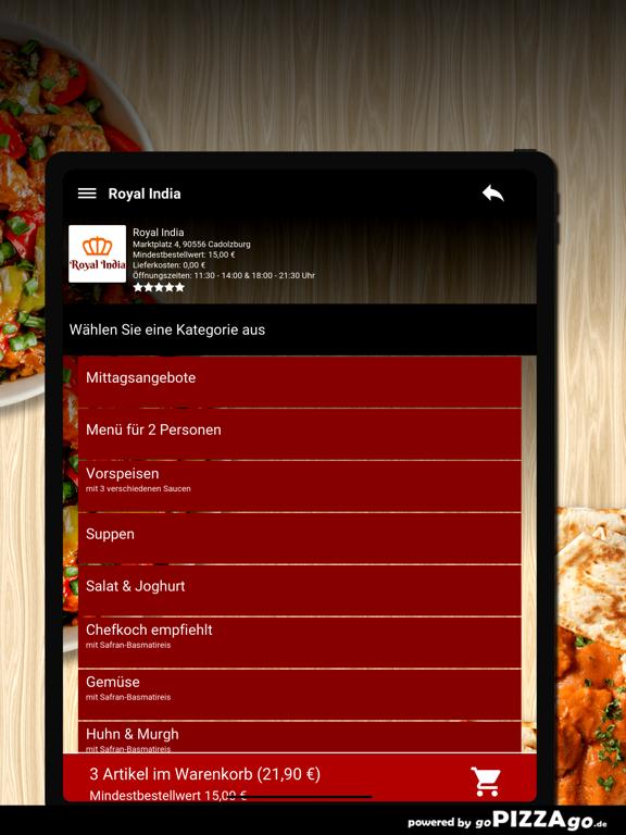 Royal India Cadolzburg screenshot 8
