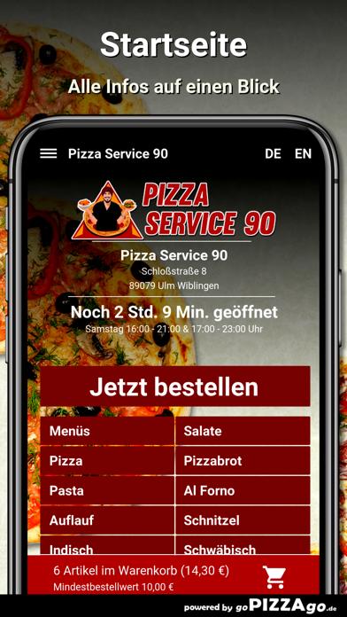 Pizza Service 90 Ulm Wiblingen screenshot 2