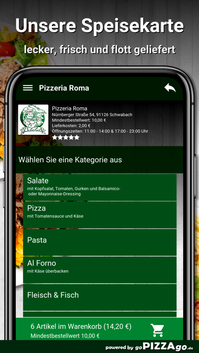 Pizzeria Roma Schwabach screenshot 1