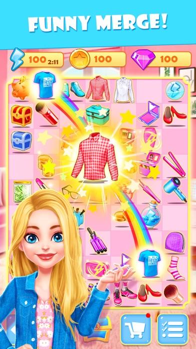Merge Makeover: Makeup Games Screenshot on iOS