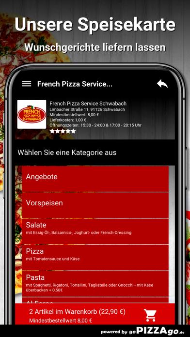 French Pizza Service Schwabach screenshot 4