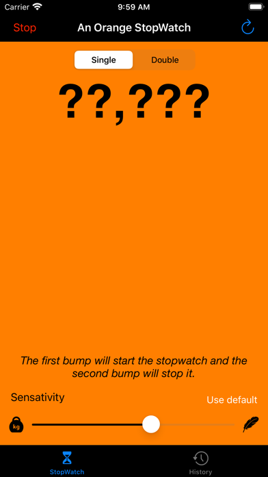 An Orange StopWatch screenshot 1