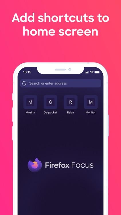Firefox Focus: Privacy browser screenshot-4