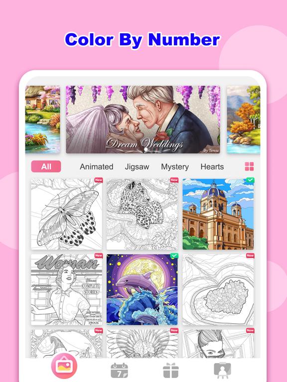 Tap Color Lite- Coloring Gamesのおすすめ画像1
