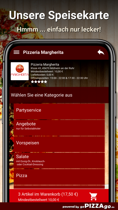 Pizzeria Margherita Mülheim screenshot 4