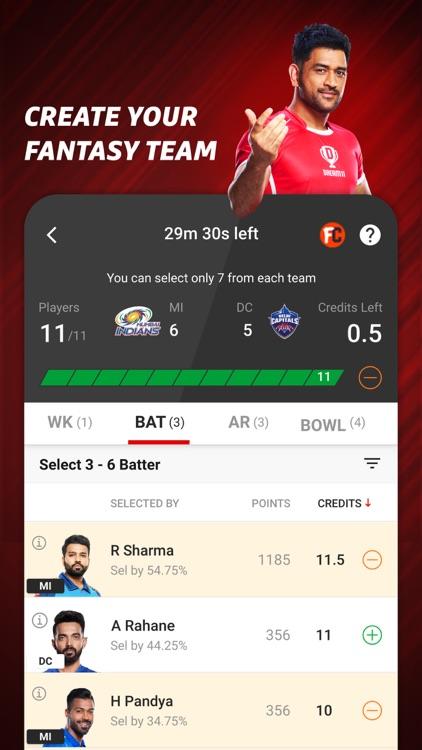 Dream11: Fantasy Cricket App