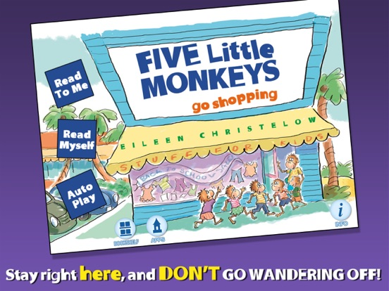 5 Little Monkeys Go Shoppingのおすすめ画像1