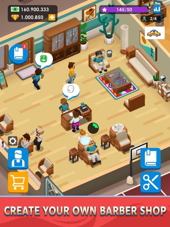 Idle Barber Shop Tycoon - Game iPad app afbeelding 1