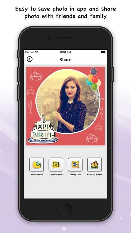 Birthday Photo Frame & Sticker screenshot-5