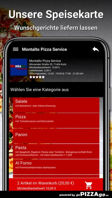 Montalto Pizza Service Korb screenshot 4